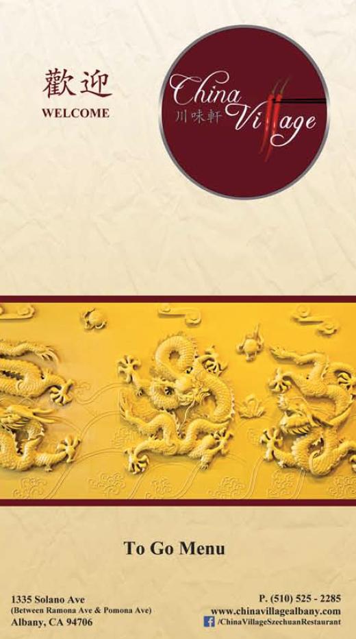China Village To Go menu
