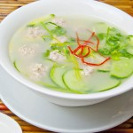 Cucumber Soup with Pork Meatballs