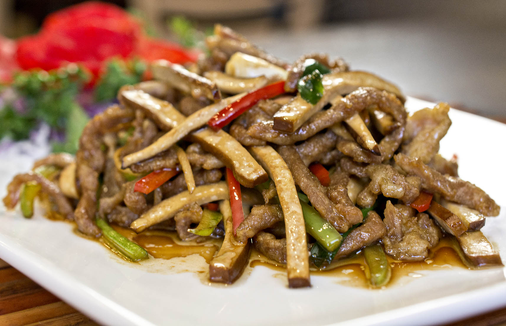 Menu china village shredded pork sauteed with dry bean curd forumfinder Gallery
